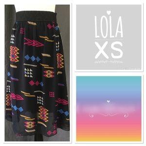 LuLaRoe black Lola skirt NWT